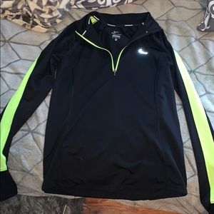 Black & Neon Yellow Nike Quarter-Zip